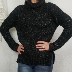 Element Marled Black Thick Knit Chunky Sweater M